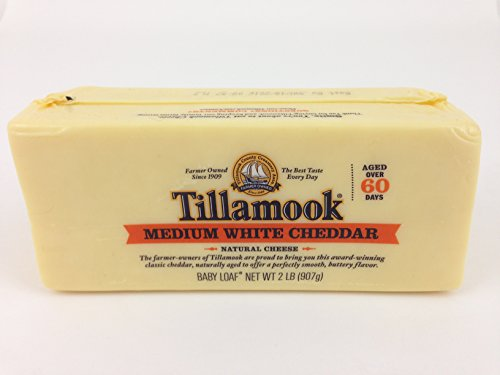 Tillamook Medium White Cheddar Cheese 2lb Baby Loaf (Pack of 2) (Organic Cheese Block compare prices)