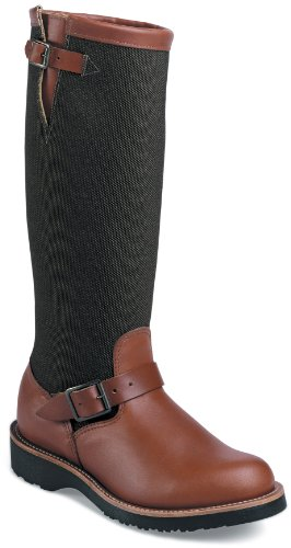 "Chippewa Men's 17"" Pull On 23913 Snake Boot,BrownEsspresso,9.5 2E US"