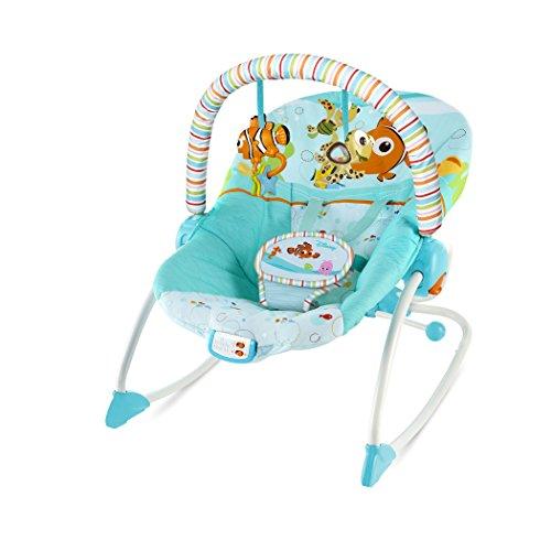 Disney Baby 10257 Alla Ricerca di Nemo Pinne & Amici Seggiolino a Dondolo per Neonati e Bambini ai Primi Passi, Blu