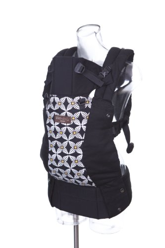 Lillebaby Complete Baby Carrier Original Designer - Black W/Yellow Petals (Ty Pennington Limited Ed.)