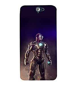 printtech Iron Suit Tesla Core Back Case Cover for HTC One A9