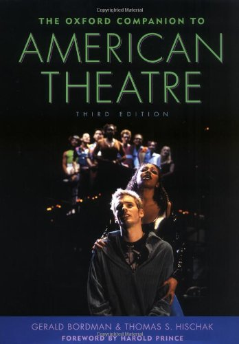 The Oxford companion to American theatre Book Cover