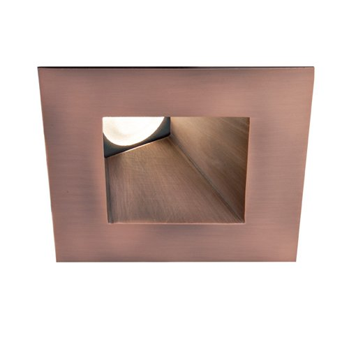 Wac Lighting Hr-3Led-T518N-C-Cb Led 3-Inch Recessed Down Light Wall Washer Square Trim With 4000K Color Temperature, Copper Bronze