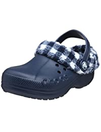 crocs Kids' Blitzen Lumberjack Plaid Lined Clog