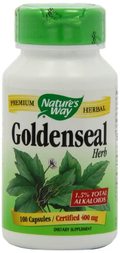 Nature's Way Goldenseal Herb Capsules, 400 mg,