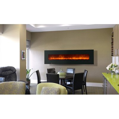 "Wall Mount Electric Fireplace Size: 26.25"" H X 94.38"" W X 6.5"" D"