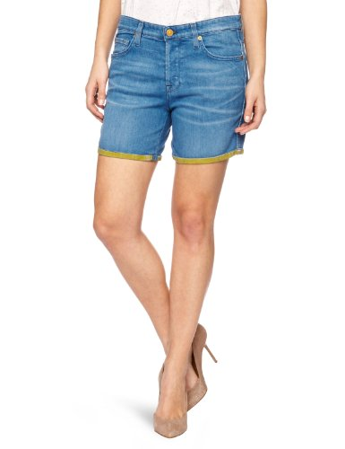 7 For All Mankind Slouchy Women's Shorts Yellow W24 IN - SWUK190YA