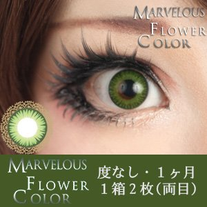 ±0.00 カラコン Marvelous Flower Color マーベラス フラワーカラー ヨモギ