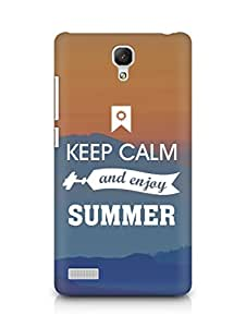 Amez Keey Calm and Enjoy Summer Back Cover For Xiaomi Redmi Note