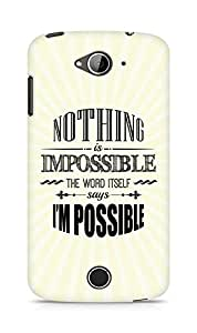 AMEZ Nothing is Impossible Back Cover For Acer Liquid Z530