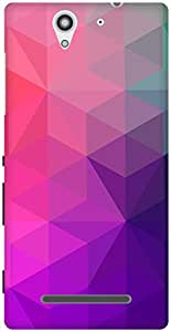 The Racoon Grip printed designer hard back mobile phone case cover for Sony Xperia C3. (Purple Cry)