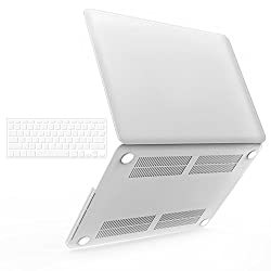iBenzer - 2 in 1 Soft-Touch Plastic Hard Case Cover & Keyboard Cover for 13 inches Macbook Pro 13.3'' with Retina display (Model: A1502 / A1425 ), Clear MMP13R-CL+1