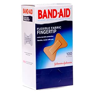 J & J Bandaid Brand Flexible Fingertip Bandages 100/box
