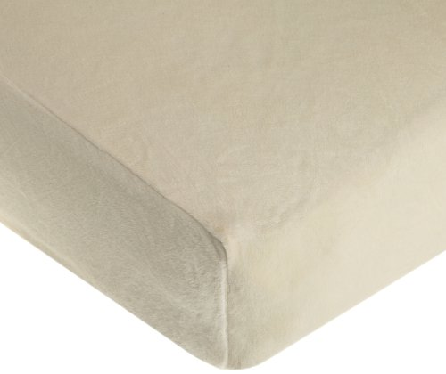 American Baby Company Heavenly Soft Chenille Crib Sheet, Ecru front-877362