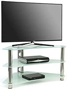 centurion gt7 meuble tv d 39 angle contemporain en verre pour crans plats lcd plasma et led 22. Black Bedroom Furniture Sets. Home Design Ideas