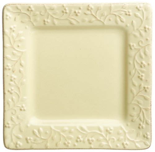 Buy Signature Housewares Chelsea 8-Inch Square Salad Plates, Butter, Set of 6
