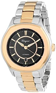 Salvatore Ferragamo Men's FQ1050013 Lungarno Stainless Steel Gold Ion-Plated Case and Bracelet Automatic Date Watch from Salvatore Ferragamo