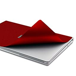 Masino Set of 4 Body Protector Full Protective Skin Decal Cover for Microsoft Surface Book (Decal- Shining Red)
