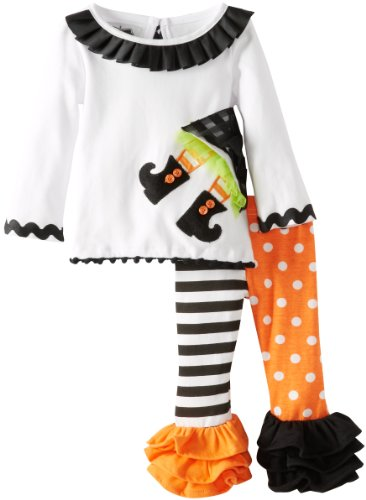 Mud Pie Baby-Girls Newborn Witch Tunic And Legging Set, Multi, 12-18 Months front-563012