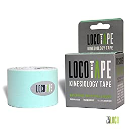 Kinesiology Tape by Loco Tape | Rock Solid Waterproof KT Tape - High Performance Flexible Athletic Tape With Advanced Adhesive | Continuous 2 in x 16.4 ft Uncut Rolls * Hypoallergenic & Latex Free * Customize for any Therapeutic Treatment Including Pain i