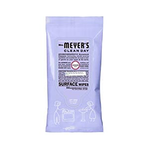 Mrs. Meyers Clean Day Aroma-therapeutic Household Surface Wipes, Lavender. (24 wipes /pack)