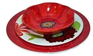 Laurie Gates ~ Flora: 12PC Melamine Dinnerware Set