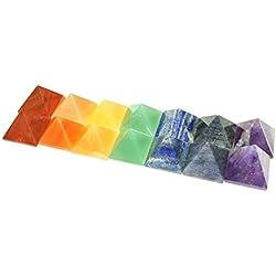 Chakra Pyramid Reiki Healing Set 10-15 Mm