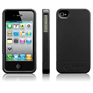splash CRUISER Slim-Fit PolyCarbonate Slider Case for iPhone 4 4G (BLACK)