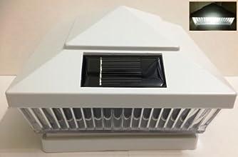 6-Pack Solar WHTIE Post Deck Fence Cap Lights for 5quot X 5quot VinylPVC or Wood Posts With White LE