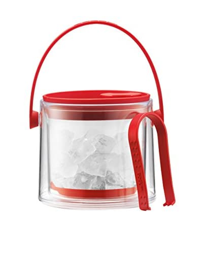 Bodum Cool Red 51-Oz. Ice Bucket with Tongs