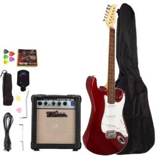 Moppi Palisander Griffbrett Elektrische Gitarre mit Ampere Turner Bag & Zubehör Rosy online bestellen