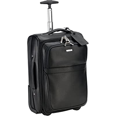 Enzo Rossi ER27904 Leather carry on wheeled trolley suitcase / cabin hand luggage by Enzo Rossi