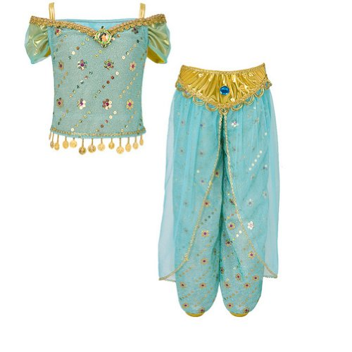 Disney Parks Deluxe Princess Jasmine Aladdin Costume Size S Small 5 - 6