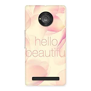 Delighted Hello Beautiful Multicolor Back Case Cover for Yu Yuphoria