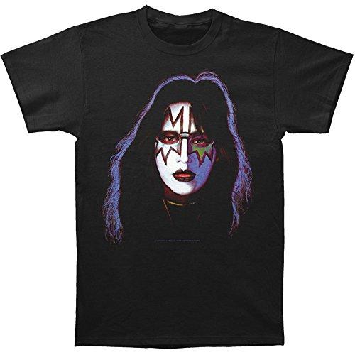 Sixtion Kiss Ace Frehley Face Paint Print Men's Classic Cotton Shirt Large