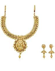 Ava Traditional Lakshmi Jewellery Set For Women (Gold) (S-VS-1411)