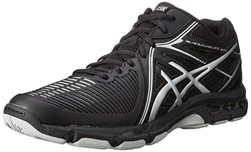 ASICS Men's Gel-Netburner Ballistic MT Volleyball Shoe, Black/Silver, 12 M US
