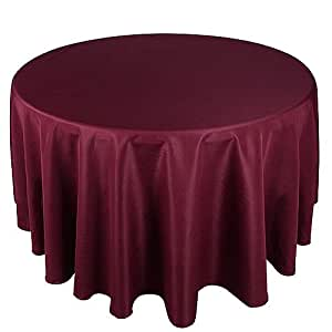 Burgundy 120 inch round tablecloths for 120 inch round table linens