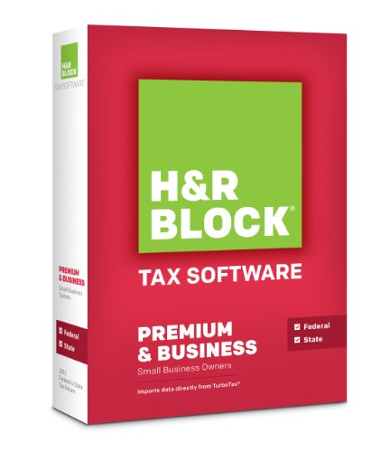 H&R Block Tax Software 2013 Premium and Business