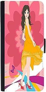 Snoogg Urban Girl 2825 Designer Protective Phone Flip Case Cover For Phicomm Energy 653 4G