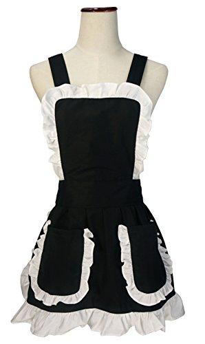 lilments-petite-croix-retro-cuisine-tablier-avec-poches-arriere-bord-ruffles-en-valeur