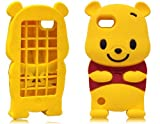 niceEshop(TM) Yellow Disney Winnie The Pooh Bear Soft Silicone Case Cover For Apple iPod Touch5 +Screen Protector