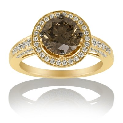 2.68 ct. t.w. Chocolate Diamond Solitaire Ring 