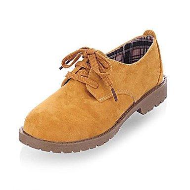 scarpe-donna-punta-tonda-chunky-tacco-oxfords-floccaggio-scarpe-piu-colori-disponibili-marrone-us6-e