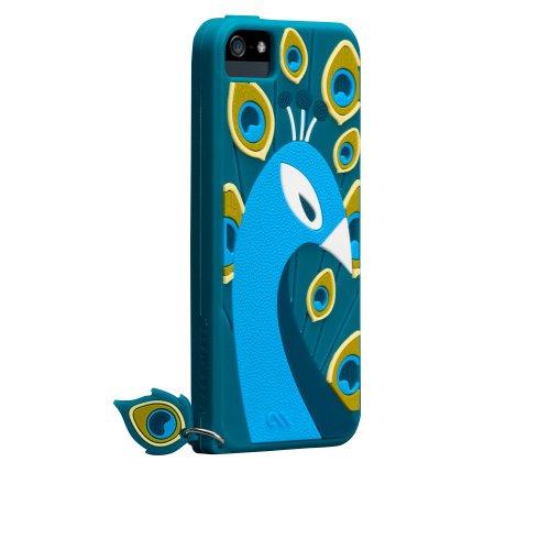 Case-Mate 日本正規品 iPhone5 CREATURES: Peacock Case, Teal クリーチャーズ: ピーコック シリコン ケース, ティール CM022879