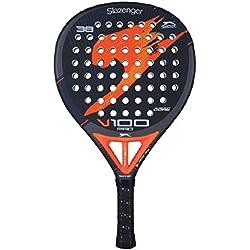 Slazenger V100 Pro - Pala de pádel, color negro / naranja / gris, 38 mm