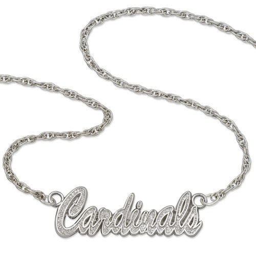 St. Louis Cardinals Script Necklace by LogoArt(r) - Silver One Size