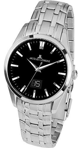 f5622272eabe Jacques Lemans Liverpool - Reloj de pulsera analógico para mujer cuarzo  acero inoxidable 1 - 1828d