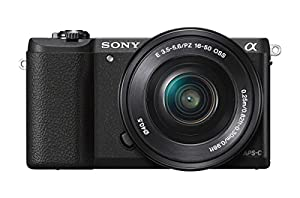 Sony a5100 24MP 16-50mm Interchangeable Lens Camera with 3-Inch Flip Up LCD (Black)