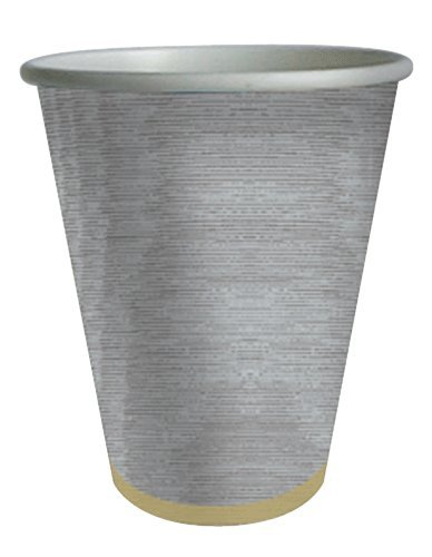 Silver Paper Cups Party Cups Insulated Cups Drinking Glasses for Hot or Cold Pk 8